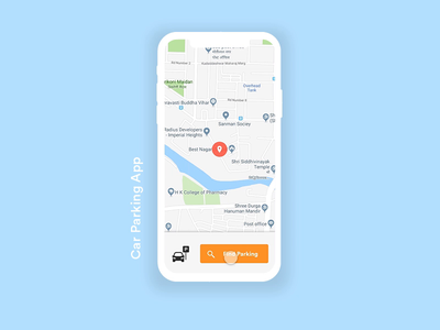 Car Parking Interaction adobe xd music app interaction design user interface user experience ui ux app design ux design ui design gif gif animation mobile animation mobile app design