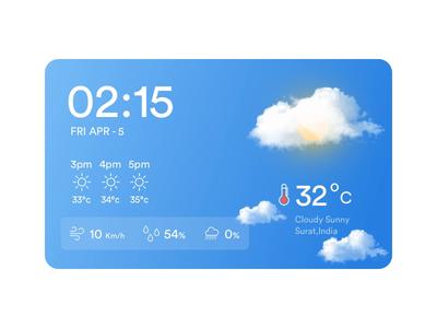 Live Weather Widget