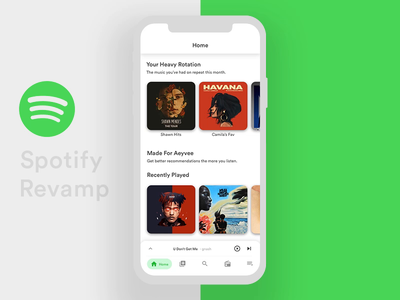 Spotify App Redesign! principle for mac clean album playlist transition motion music app music challenge redesign sketch principle ux ui animation gif interaction app spotify