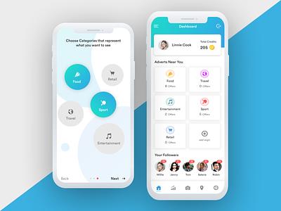 Explore Interest App concept app design choose interest clean icons category explore card app mobile app mobile ux ui trending