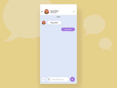 Chat conversation Interaction chat app sketch principle for mac play transition upload talk trending mobile app design app design ux ui video animation conversation chat app gif