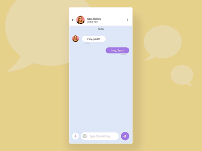 Chat conversation Interaction chat app sketch principle for mac play transition upload talk trending mobile app design app design ux ui video animation conversation chat app gif