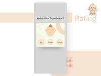 Rating Popup UI Concept