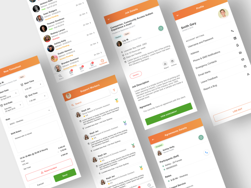 Mable - App Redesign apps mobile app mobile ui minimal new before after redesign clean ui find job job application trending sketch mobile app ux ui user experience user interface app design