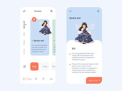 Toy Store App UI sketch mobile app design ux design ui design user interface user experience app design ux ui