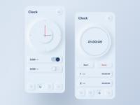 Skeuomorph Clock App