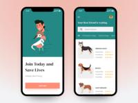 Dog Adopt App UI mobile app design user interface user experience app design ux ui