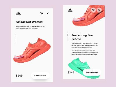 UI UX App. Adidas phone design app uidesign uixu ux ui