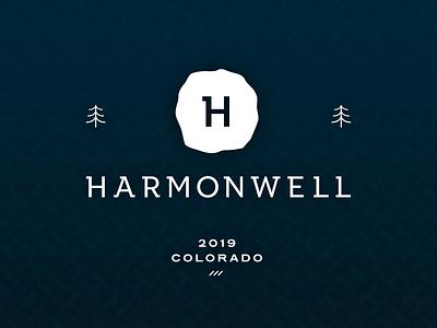 Harmonwell branding logo typography