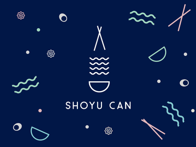 Shoyu Can Ramen ramen design logo