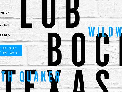 Wildwood Lubbock typography