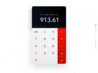 Daily UI challenge #004 — Calculator