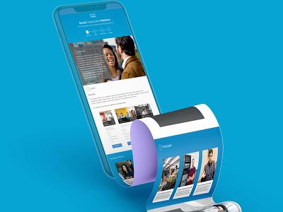 Cisco Social Collaboration Solutions responsive website responsive design mobile ui mobile interfacedesign interface uiux ui design uidesign ui  ux ui design