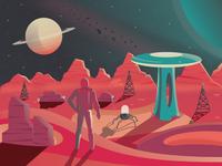Life On Mars Illustration