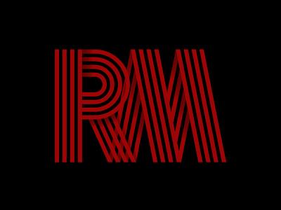 RM LOGO icon minimal flat vector design logo