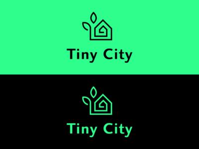 TINY CITY LOGO illustrator minimal illustration branding flat icon vector logo design