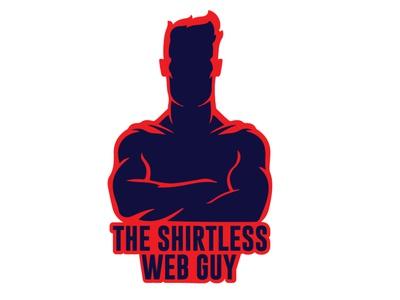 THE SHIRTLESS WEB GUY illustrator illustration flat icon vector logo design