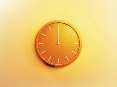 Daylight Saving midnight spring forward time yellow c4d golden hour fall back daylight savings clock minimal illustration motion graphics motion animation