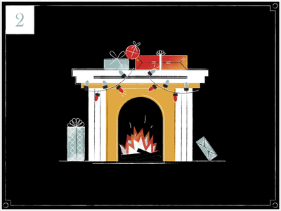 Christmas Countdown | 2 motiondesign happy holidays christmas eve countdown vintage gifts fire fireplace christmas christmas card advent minimal merry christmas advent calendar retro texture midcentury illustration motion graphics animation