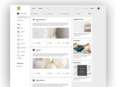 News feed Algorithm Cotton Platform consultant textile design cotton candy new app software design social app cotton bureau design newsfeed twitter redesign facebook cotton