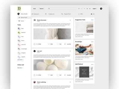 News feed Algorithm Cotton Platform