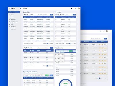 eBay Order Tracking Dashboard (SASS application) template web website clean portfolio dribbble design realistic database elegant ui dashboard
