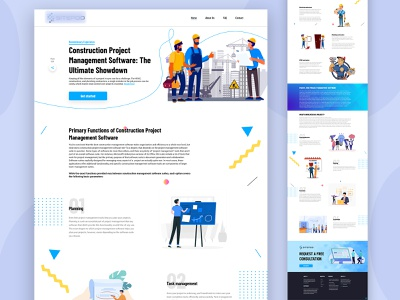 Construction Landing Page development app design constructions corporate design marketing agency creative new landing page portfolio design