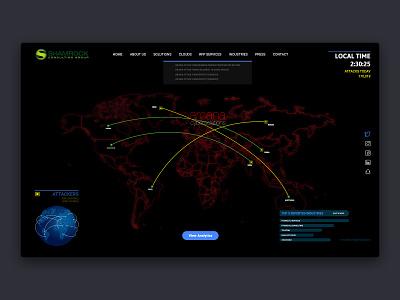 Real Threat Threat of cyber attack debut map threat cyber attacked redesign frontend design development threat map design map desktop craft new design