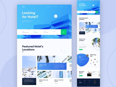 Hotel Booking Landing page design blue hotels home psd xd website hand lettering landing page designnew hotel booking designer new design app booking hotel