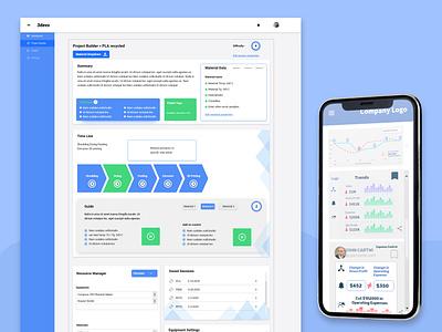 3Devo Project Builder Dashboard Design clean analytics xd design ui elegant design tracing project dashboard ui