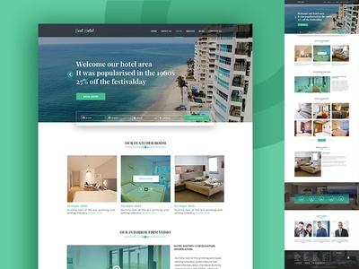 Hotel Tourism Web Template