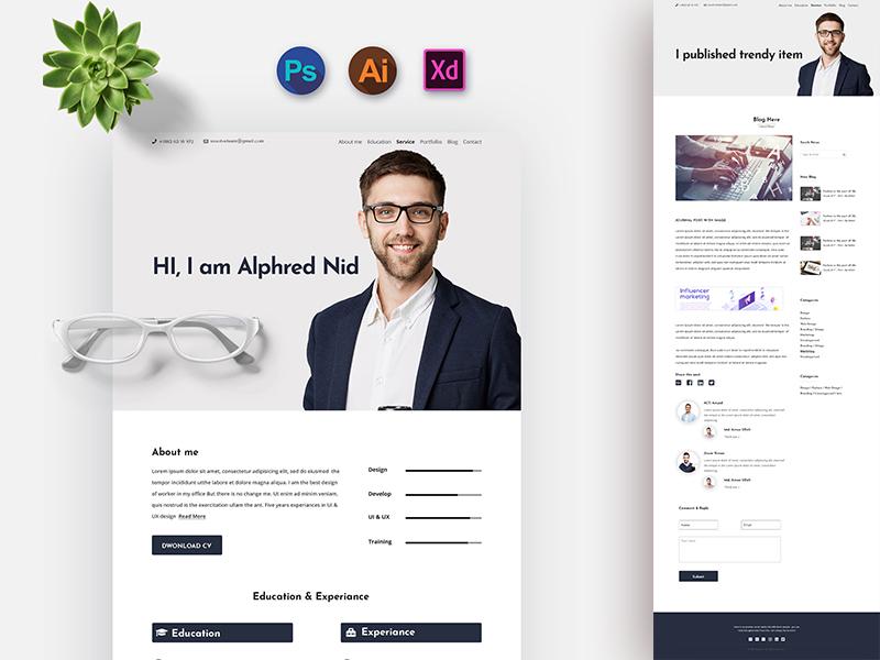 resume portfolio html tamplate by kawsar hossain
