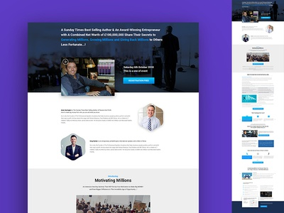 Web Template motivational speaker