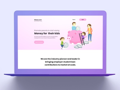 Landing Page Save Money For Kids