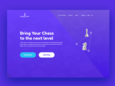 Chess game Web Template