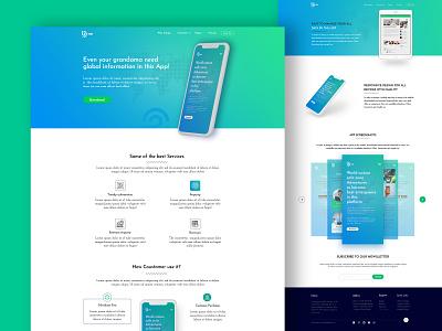App Landing Page design designs cms development html web design website app store uxdesign app ui homepage design app landing