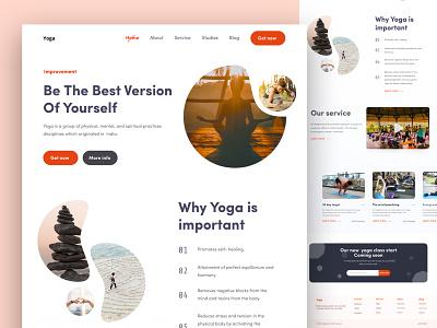 Yoga Landing page elegant vector illustration portfolio template resume clean landingpage yoga corporate design
