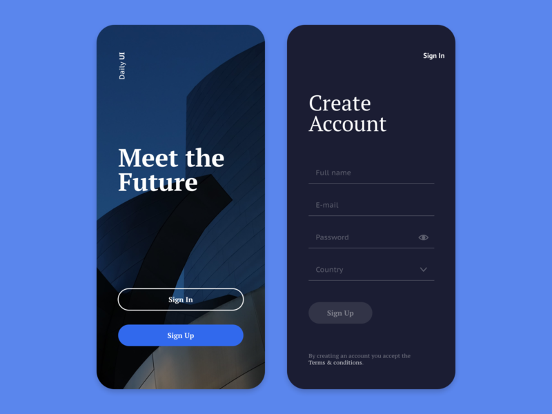 Daily UI 001 - Sign Up concept costa rica daily screen sign in log in mobile iphone sign up ui 001 dailyui