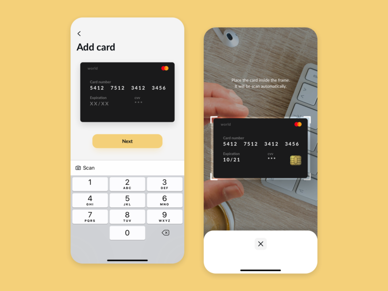 Daily UI 002 - Credit Card Checkout concept costa rica card scan checkout credit card credit 002 daily ui daily ios iphone ui