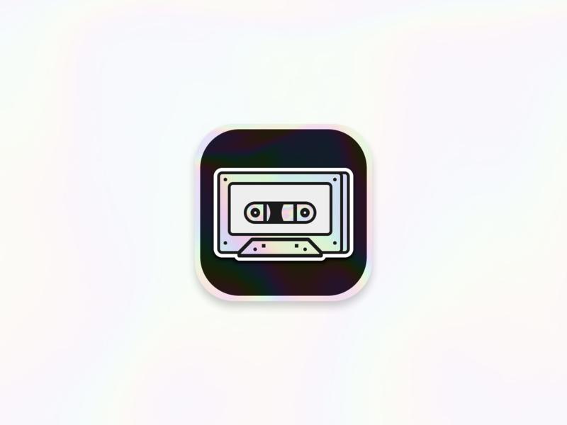 Daily UI 005 - App icon holograph 90s 005 logo dailyui daily ui daily holographic cassette app icon icon design ui app concept costa rica