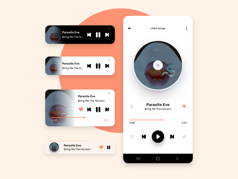 Daily UI 009 - Music Player android s10 galaxy play bmth music player player music 009 mobile dailyui daily ui daily design concept ui costa rica
