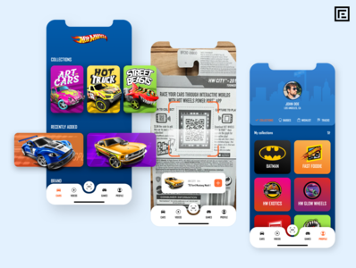 Hot Wheels app scan redesign app concept iphone xs inspire collection cars hot wheels app design concept design vector concept mobile costa rica lettering design ux ui iphone app