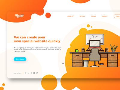 Colorful Web Design illustration graphic design design website wireframe web ui styleframe ux user interface ui