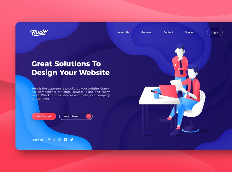 Website Design vector website illustration graphic design design website ui web ui ux user interface ui