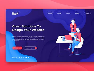 Website Design vector website illustration graphic design design website ui web ui ux user interface ui
