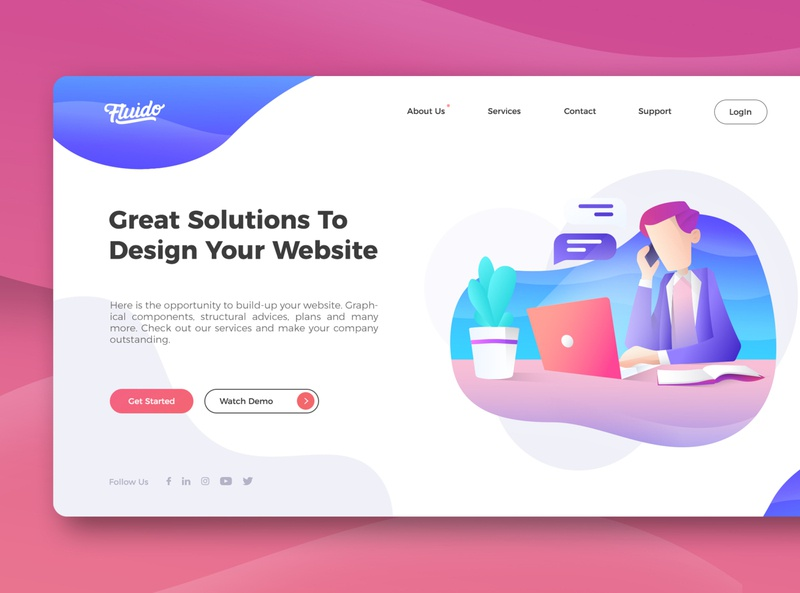Design Your Website vector illustration graphic design design website ui web ui website user interface ux ui