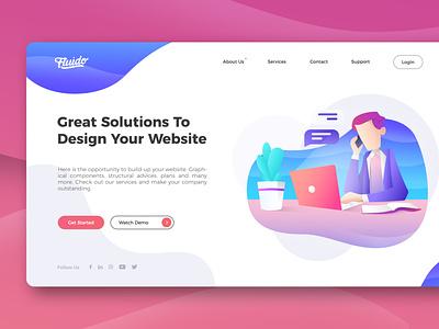 Design Your Website vector illustration graphic design design website ui web ui website user interface ux ui