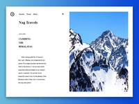 Travel Blog Concept, Simple and Neat