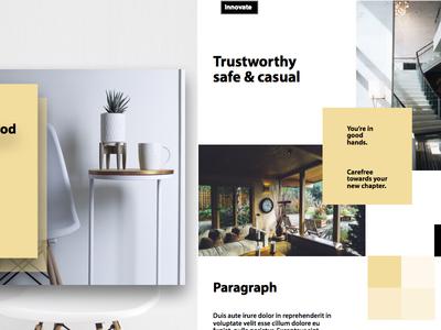 Real Estate Concept Web UI Design