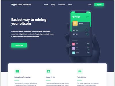 Bitcoin, crypto Trading Platform Concept Design web ui user interface wireframe styleframe ux ui website ui website